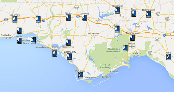 Where Do We Provide Services?, Map of Goodwill Bigbend Locations