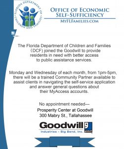 DCF Goodwill Flyer